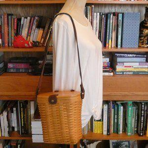 Genuine Vintage Longaberger Basket Purse - Large